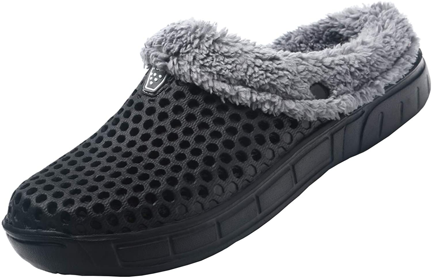 YUKTOPA Unisex Garden Clogs House Slippers Fur Lined Winter Breathable Walking Garden Shoes Warm Non-Slip Mule Footwear