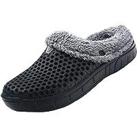 CERYTHRINA Men's Women's Lined Clog Breathable Mesh Lining Indoor Outdoor Walking Garden Clogs Winter Slippers