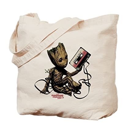 Image Unavailable. Image not available for. Color  CafePress GOTG Groot  Cassette Natural Canvas Tote Bag ... 80badbc91c