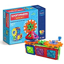 Magformers Magnets in Motion 32 Piece Gear Set