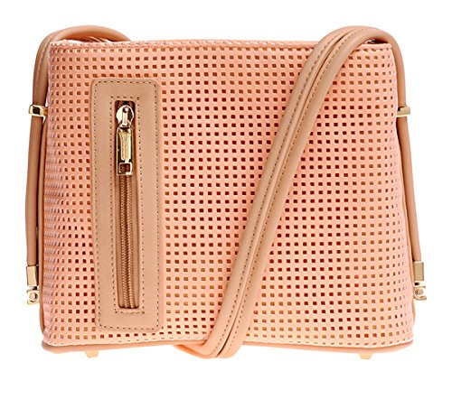 samoe-style-light-melon-pink-punched-texture-crossbody-handbag