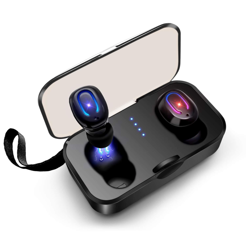 Artlink 真のワイヤレスイヤホン Bluetooth 5.0 インイヤーヘッドフォン 20時間再生 3D ステレオサウンド 重低音 防水 Bluetoothヘッドセット マイク内蔵 ポータブル充電ケース   B07Q7VWBH2