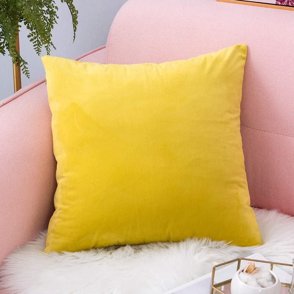 1 pi/èce Beige Coussin Canap/é en Velours D/écoration Chambre Taie doreiller Sofa Salon