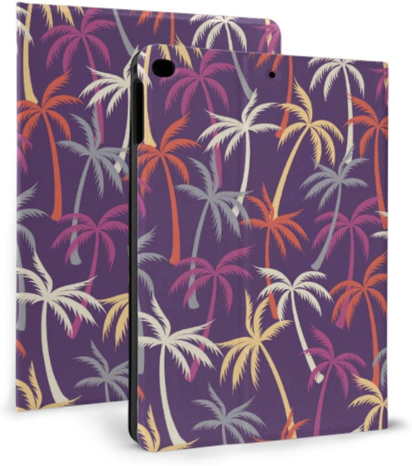iPad Funda de Cuero Coco Palm Tree Tropical Forest iPad Mini Funda Protectora para iPad Mini 4 / Mini 5/2018 6th / 2017 5th / Air/Air 2 con Auto Wake/Sleep Cubierta magnética Plegable para iPad