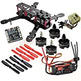 Hobbypower DIY 250 Mini Quadcopter H250 Racing Drone Frame Kit + HP T2204 2300KV Motor + Simonk 20A ESC + CC3D Flight Controller + 5045 Propeller