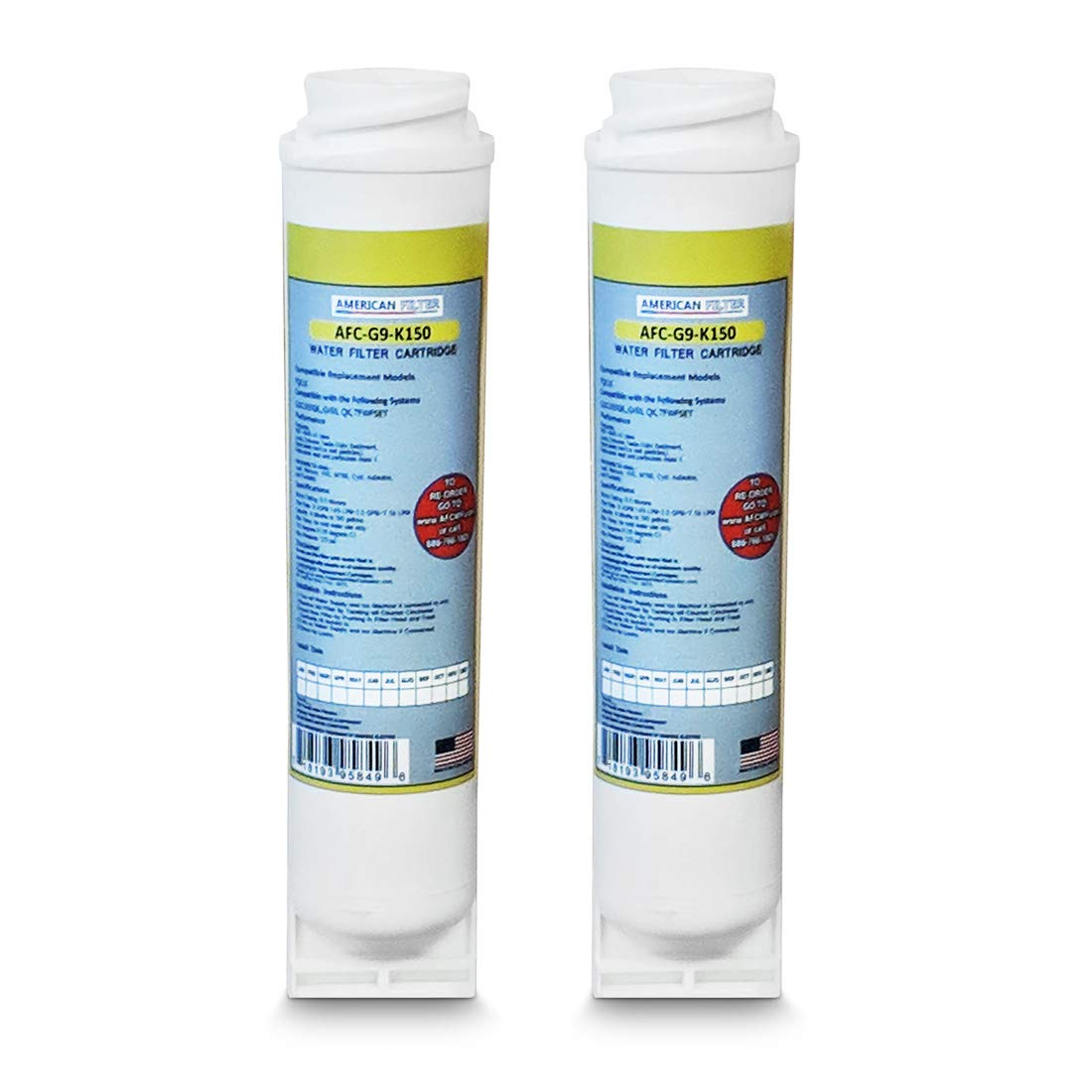 2-Pack GE FQK1K Compatible Water Filter