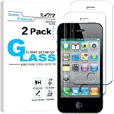 iPhone 4S Screen Protector - KATIN [2-Pack] Premium Tempered Glass Screen Protector for Apple iPhone 4 / iPhone 4S 9H Hardness