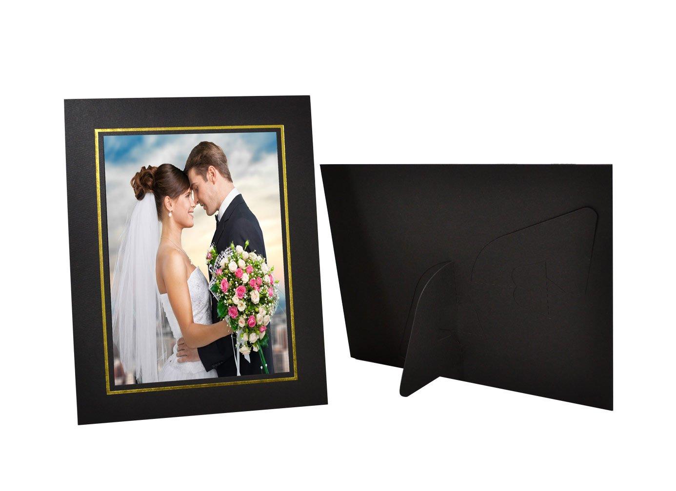 Cardboard Photo Easel Frame for 5x7 Photo Golden State Art Black Pack of 25