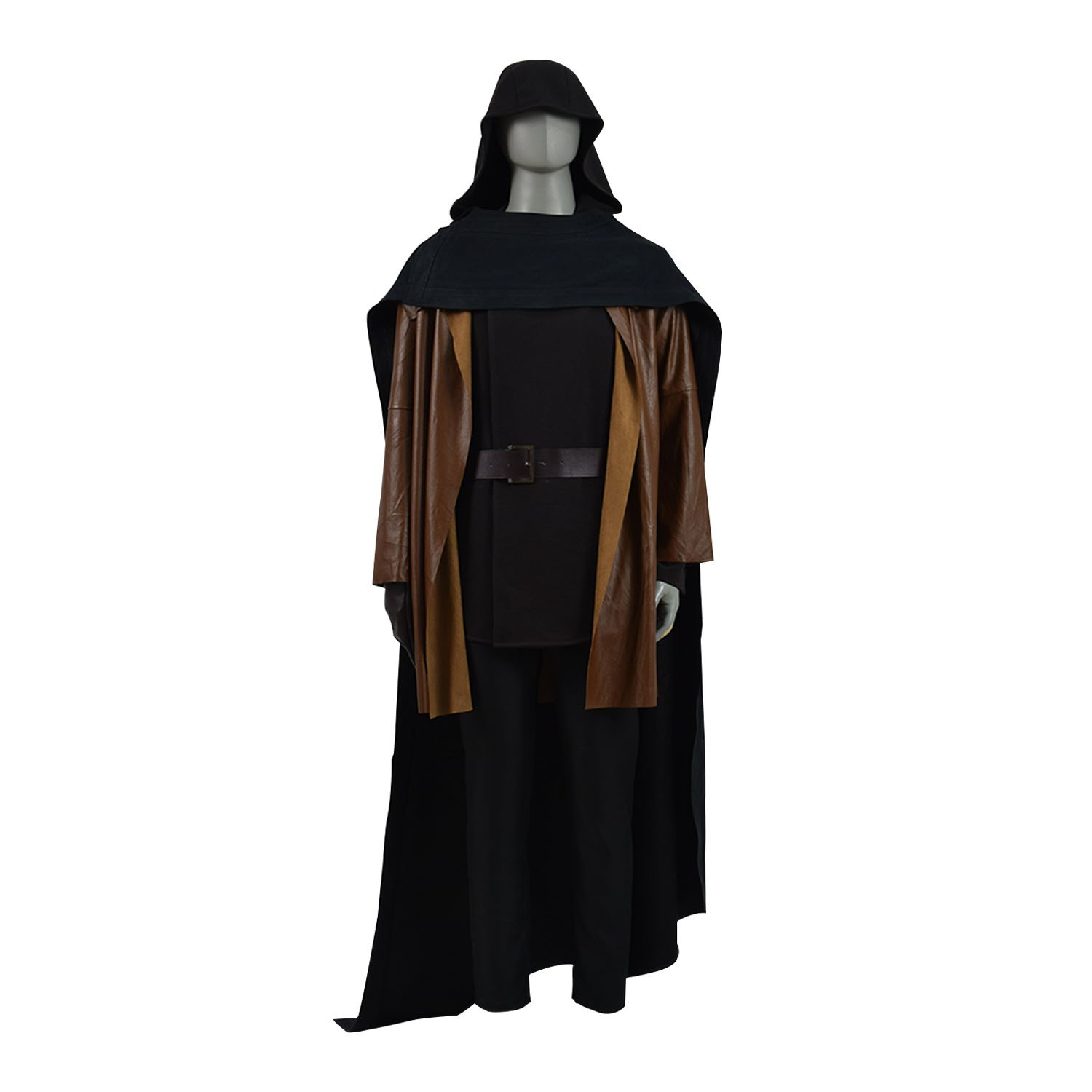 TISEA Men's Skywalker Jedi Luke Cosplay Costume Halloween Outfit Ver.2 (XXL, Full Set 2) by TISEA