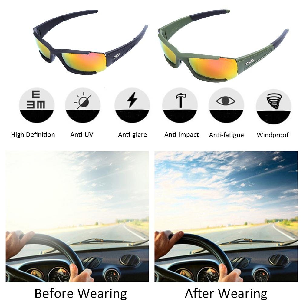 b1e6e36623 Jannyshop Protective Glasses New Style Removable Glasses with Colorful  Lenses Riding Goggles for Men Women  Amazon.co.uk  DIY   Tools