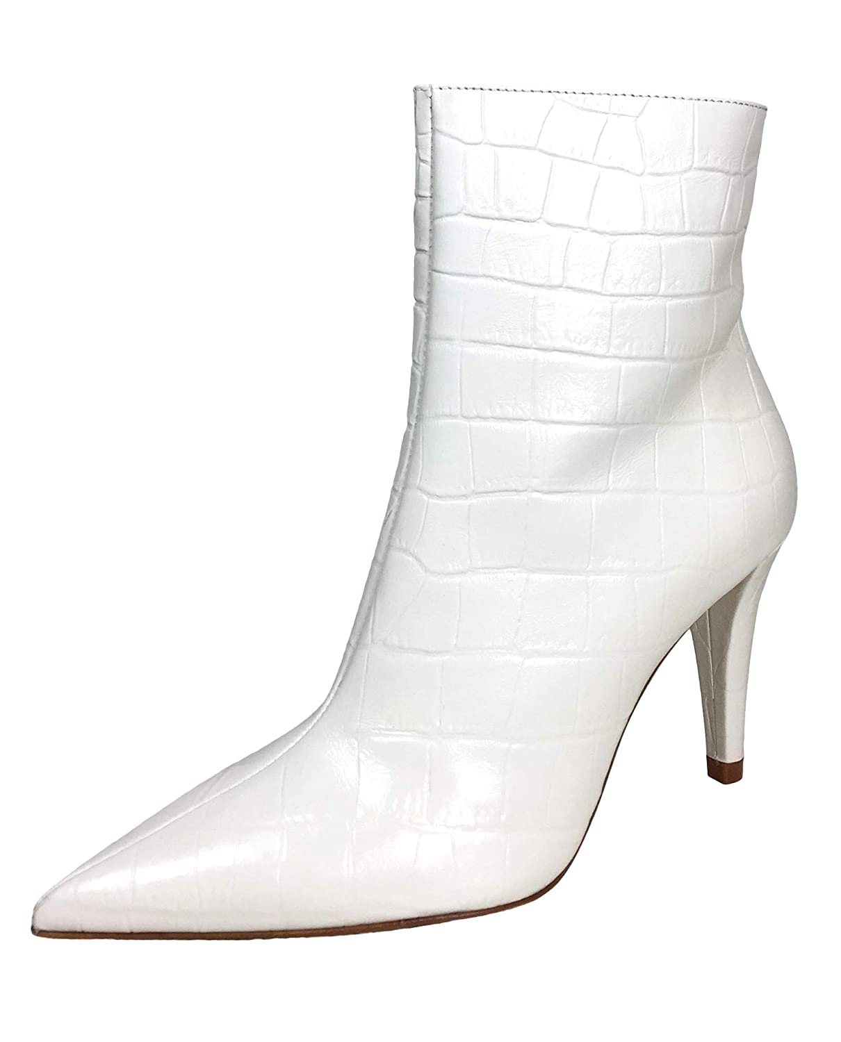 a470f6b4a05 Amazon.com  Zara Women Snakeskin print leather high-heel ankle boots  2116 001  Clothing