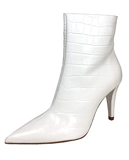 aba7a711c Amazon.com: Zara Women Snakeskin print leather high-heel ankle boots  2116/001: Clothing