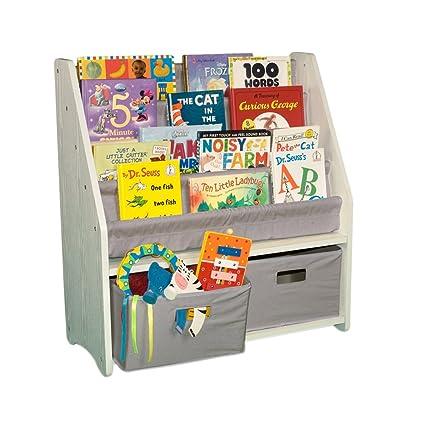 WonkaWoo Deluxe Childrens Sling White Finish Bookshelf