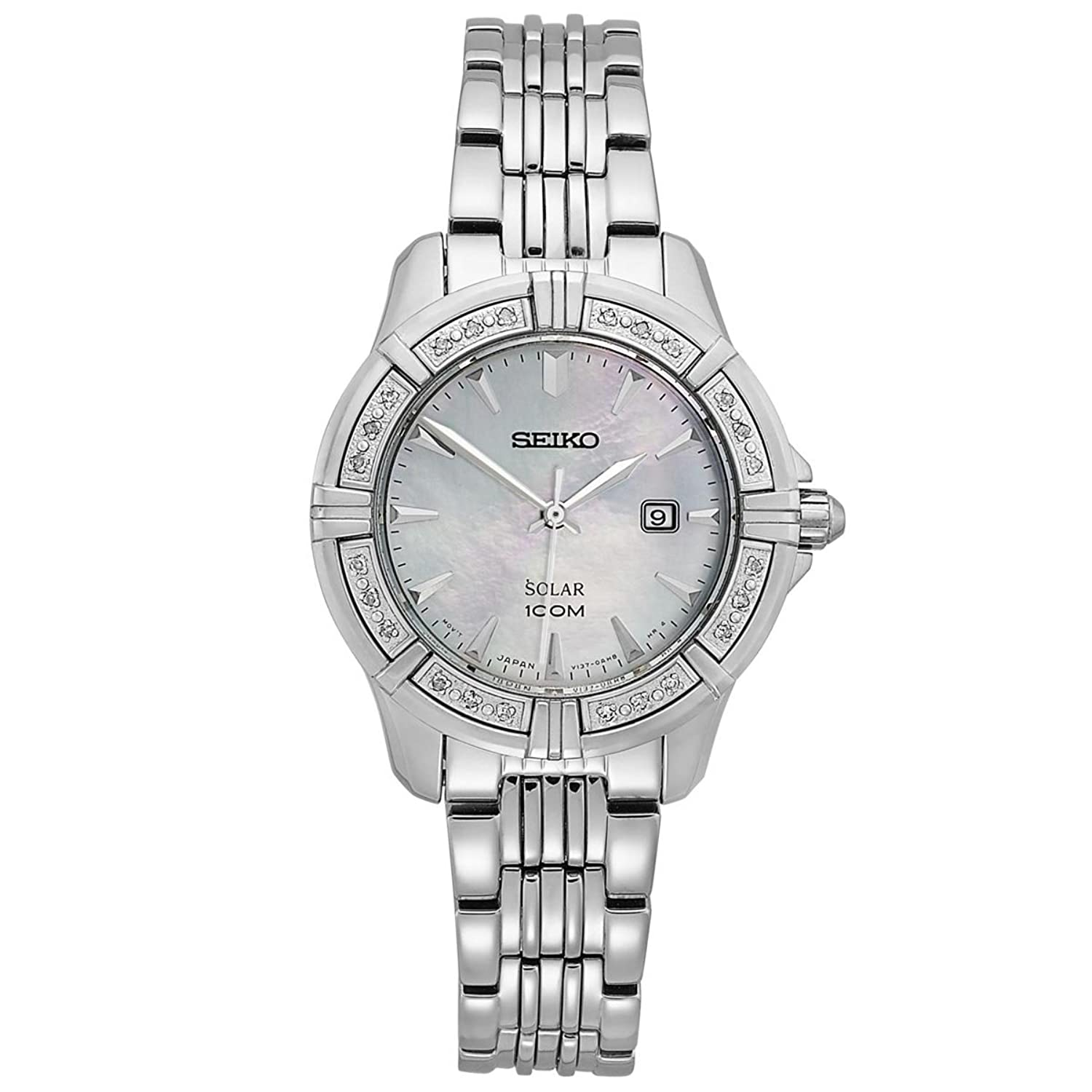 Seiko Ladies Solar Powered Diamond Bracelet Watch
