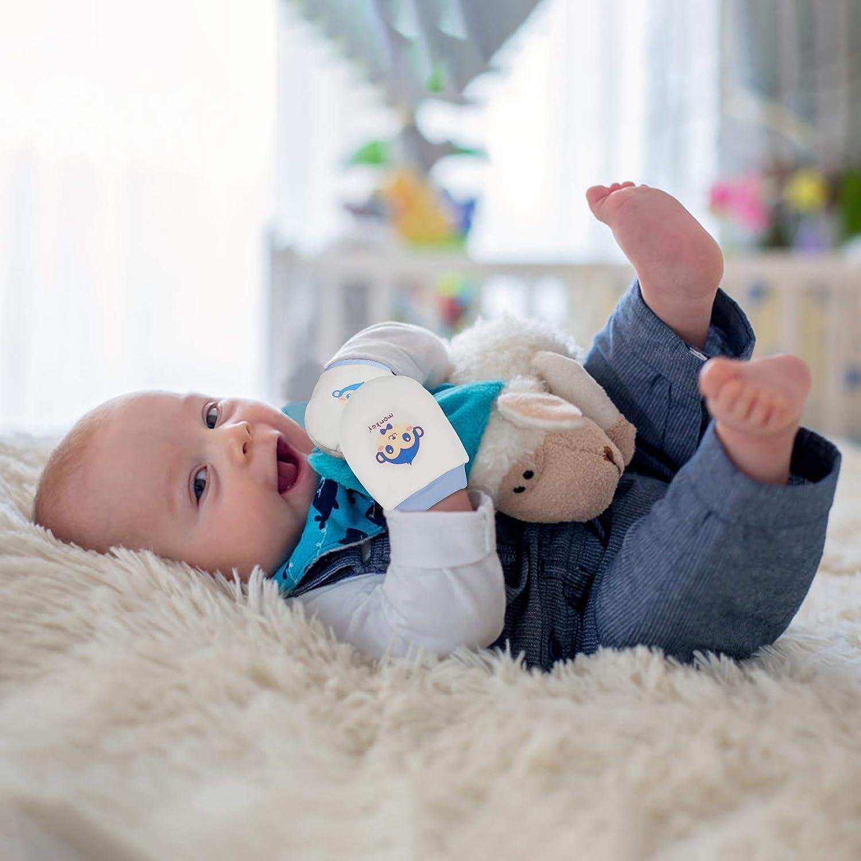 LANMOK Manoplas Beb/é Recien Nacido,4 pares Guantes Algod/ón Beb/és con Cord/ón Mitones Antiara/ñazos Beb/é Regalos para Cumplea/ños Reci/én Nacidos Baby Showers Bautizos A/ño Nuevo