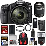 Cheap Sony Alpha A77 II Wi-Fi Digital SLR Camera & 16-50mm Lens with 55-200mm Lens + 64GB Card + Battery & Charger + Backpack + Flash + Kit