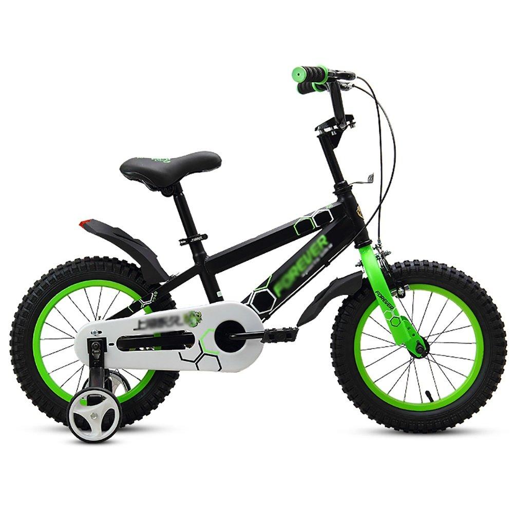 男の子、女の子幼児自転車ベビーカー子供用自転車2-3-4-5-6歳12 14 16 18インチ子供用自転車ベビーペダル自転車白黒黄色 B07DWKCDGL 16 inch|ブラック ブラック 16 inch