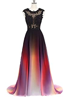 25a24ac01d4 FWVR Women s Lace Appliques Prom Evening Dresses Formal Long Wedding Party  Gowns