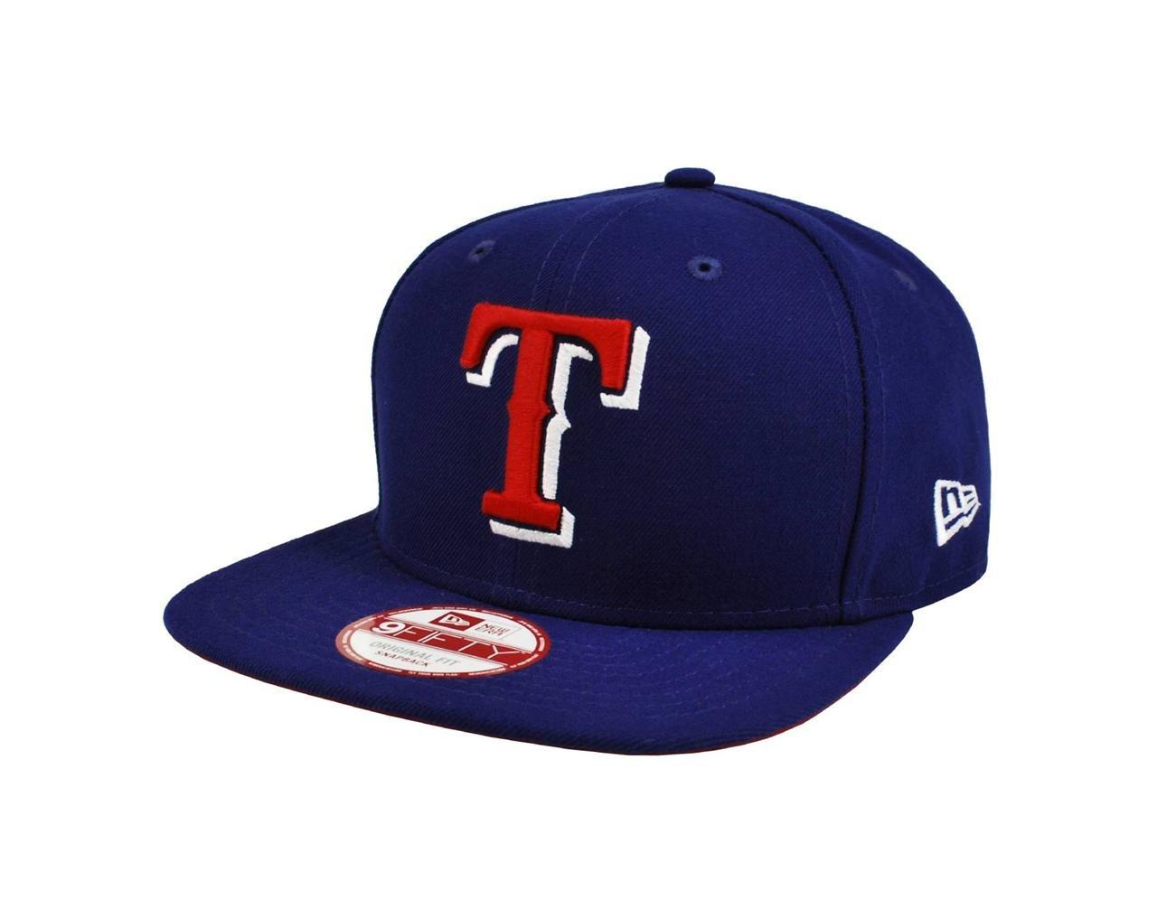 super popular ff9a8 c29d7 Amazon.com   NEW ERA 9fifty MLB Hat Texas Rangers Adjustable Practice  Baseball Dark Royal Blue Cap   Sports   Outdoors