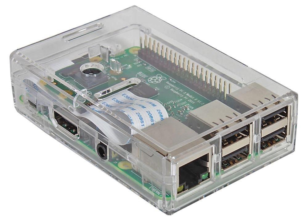 Modelo Raspberry Pi B 3 placa base con funda