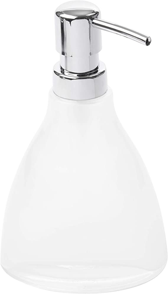 Details about  /NEW STYLE SANCTUARY SHINY SILVER PUMP+CLEAR /& DARK GRAY GLASS SOAP DISPENSER