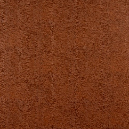 (Chestnut Brown Animal Hide Texture Plain Recycled Leather Automotive Vinyl Stain Resistant Upholstery Fabric by the yard)