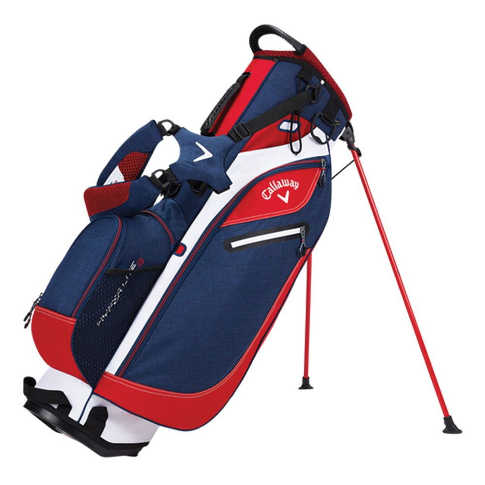 Callaway Hyper-Lite 3 Stand Bag Golf Carry Bag 2017 Navy/Red/White New by Callaway