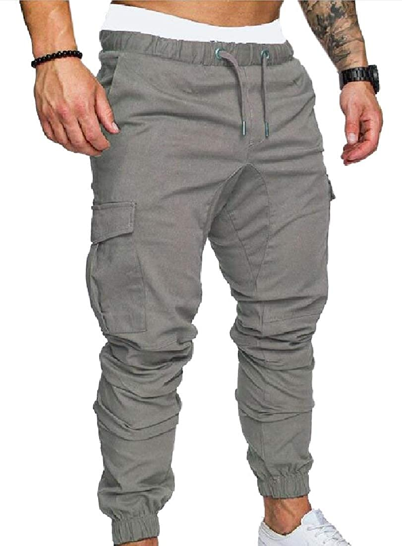 ZXFHZS Mens Jogger Cargo Chino Casual Trouser Outdoor Working Pants