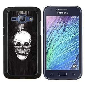LECELL--Funda protectora / Cubierta / Piel For Samsung Galaxy J1 J100 -- Cráneo Pintura profundo Muerte Infierno Gondola --