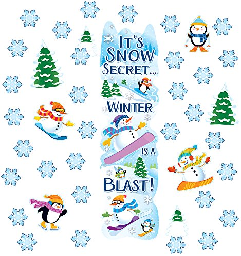 Eureka Winter Season School and Classroom Door Décor Kit, 33pc -