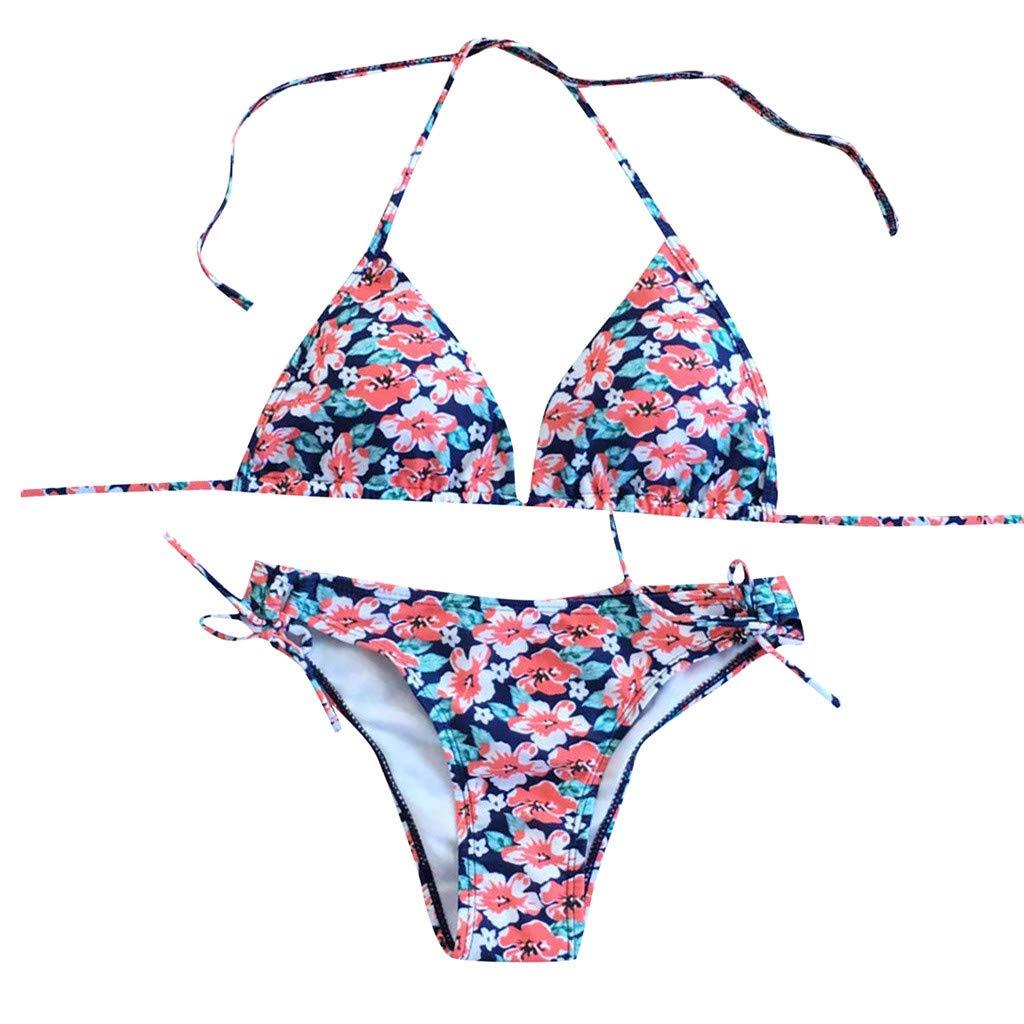 im Angebot AZZRA Frauen brasilianischen Bikini Set Bademode Halter Weste Tops Badeanzug Strand Badeanzug Rosa gpGwm2rk