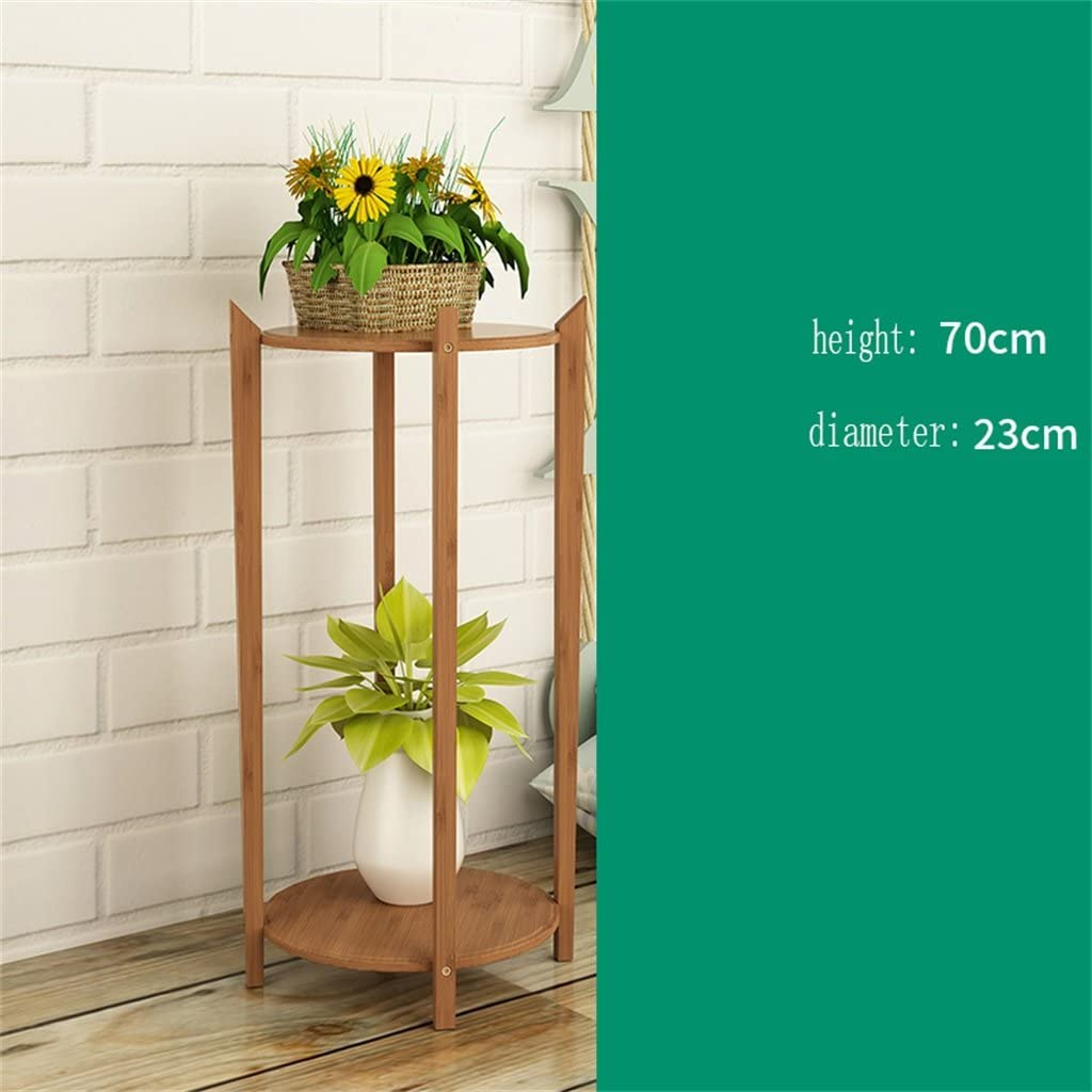 AIDELAI Aiilai - Estante de flores de bambú para decoración de balcón, 2 capas, diseño de pergolas de jardín: Amazon.es: Jardín