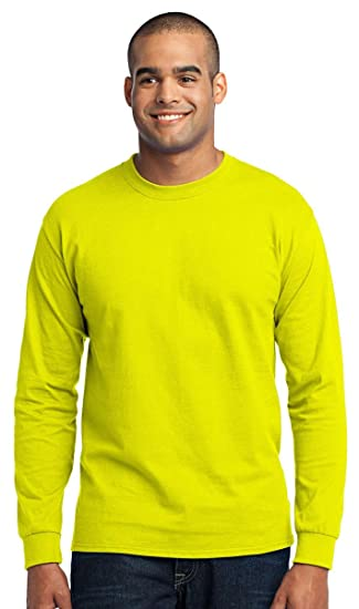 f43e313d Port & Company Tall Long Sleeve Core Blend Tee. PC55LST Safety Green 3XLT |  Amazon.com