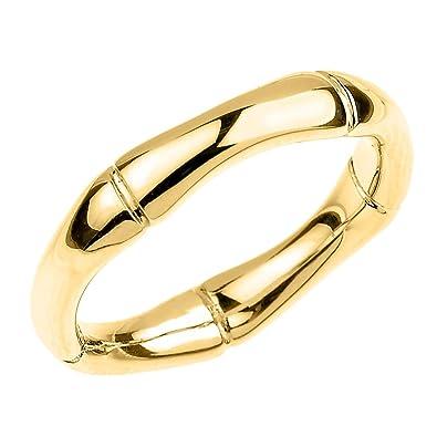 Amazoncom High Polish 14k Yellow Gold Bamboo Style Wedding Ring