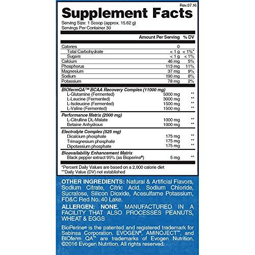 Evogen AminoJect | Vegan Fermented Plant Based BCAA, Glutamine, Citrulline Powder | Watermelon | 30 Servings