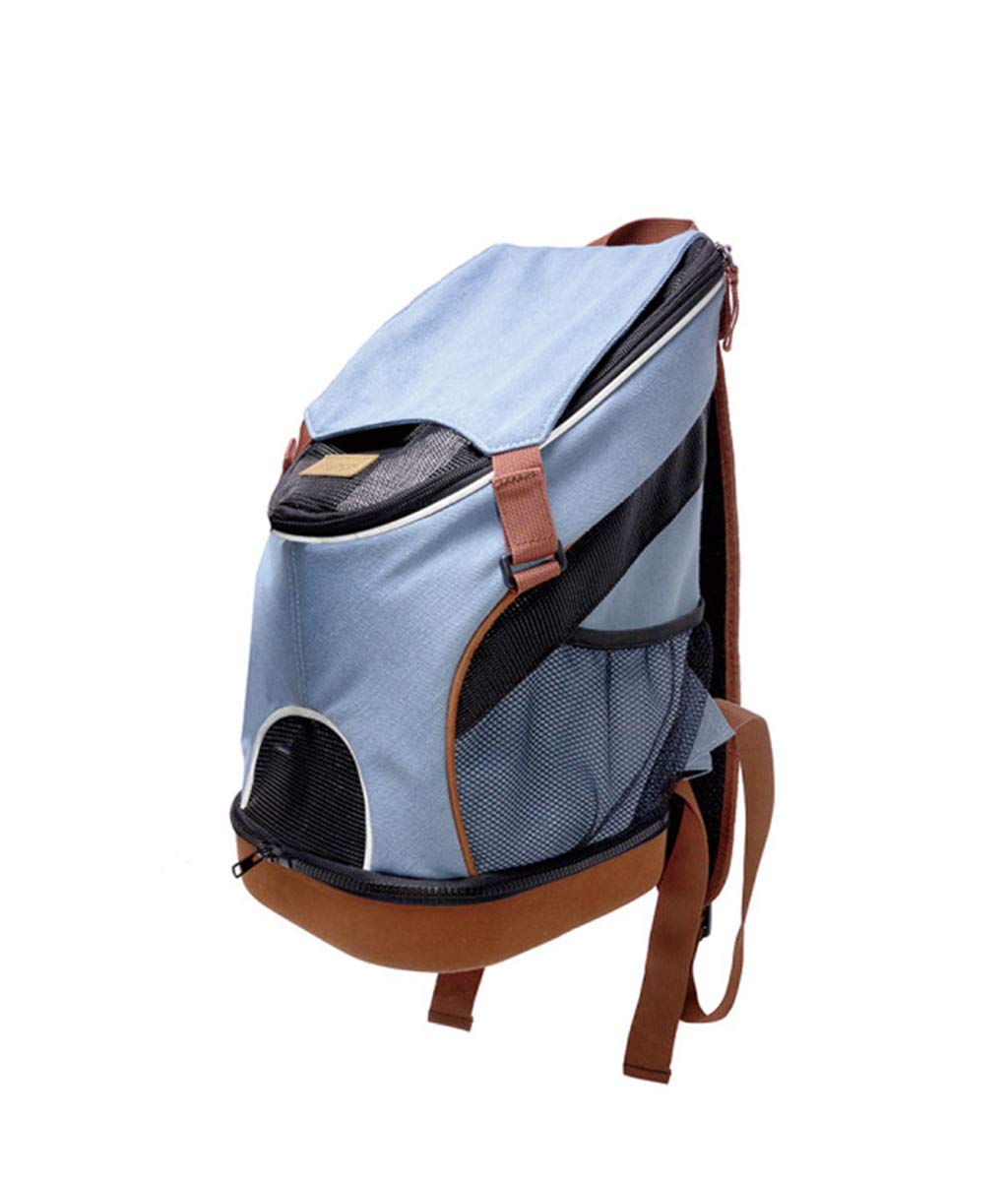 Breathable Pet Backpack Sports Casual Backpack bluee (Suitable For 5Kg Cats And Dogs)