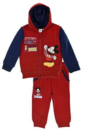 Mickey Mouse Baby Boys Tracksuit Red 6 9 Months Amazon Co Uk