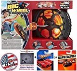 Bundle: The Original Big Wheel'Spin-Out' Racer 16' Trike With Hand Brake & 1 (One) Random Hot Wheels or Matchbox 1:64 Scale Collectible Die Cast Car Model & Active Energy Power Balance Necklace