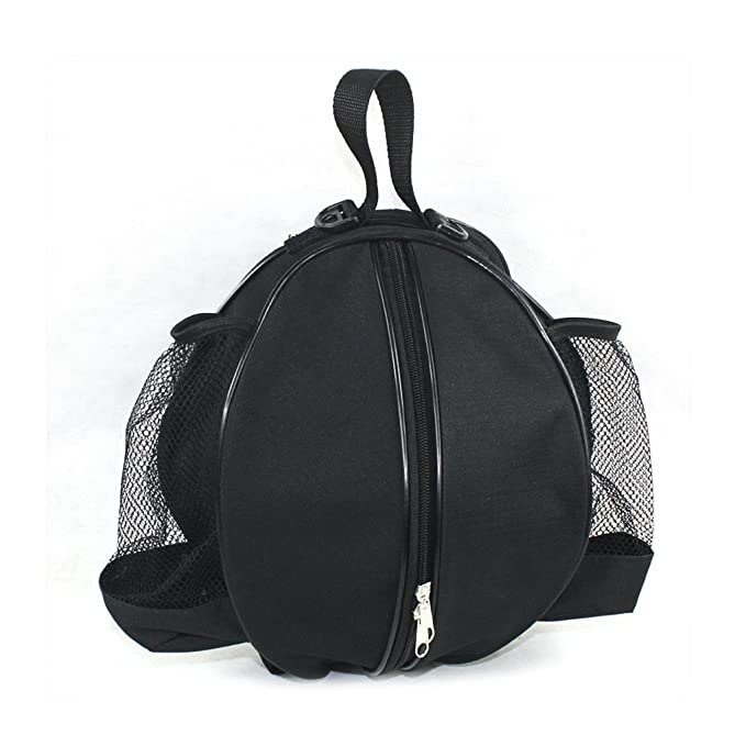 05dace9233 BXT Professional Basketball Carrying Bag with Side Water-bottle Pouch  Sports GYM Equipment Shoulder Messenger Bag Football Valleyball Ball  Storage Sack  ...