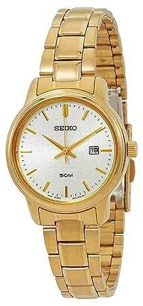 Seiko Reloj Analogico para Mujer de Cuarzo con Correa en Acero Inoxidable SUR744P1: Amazon.es: Relojes