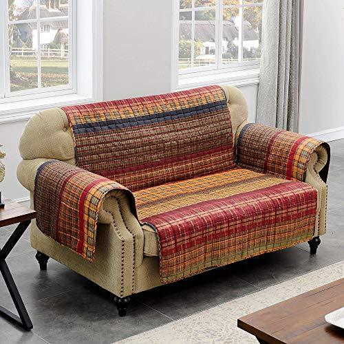 Barefoot Bungalow Gold Rush Reversible Sofa Cover Furniture Protector - 127x77 Multicolor ()