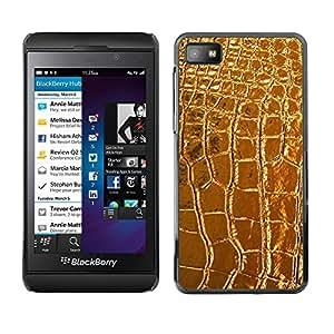 Estuche Cubierta Shell Smartphone estuche protector duro para el teléfono móvil Caso Blackberry Z10 / CECELL Phone case / / Leather Crocodile Luxury Luxurious /