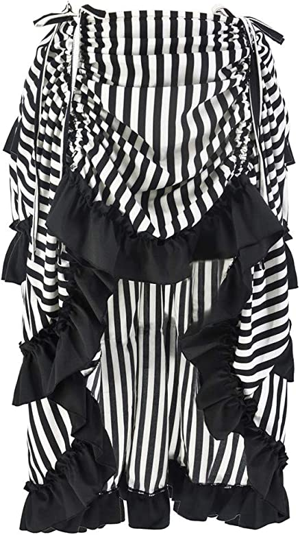 FLYFISH Falda de corsé estilo steampunk con volantes y falda ...
