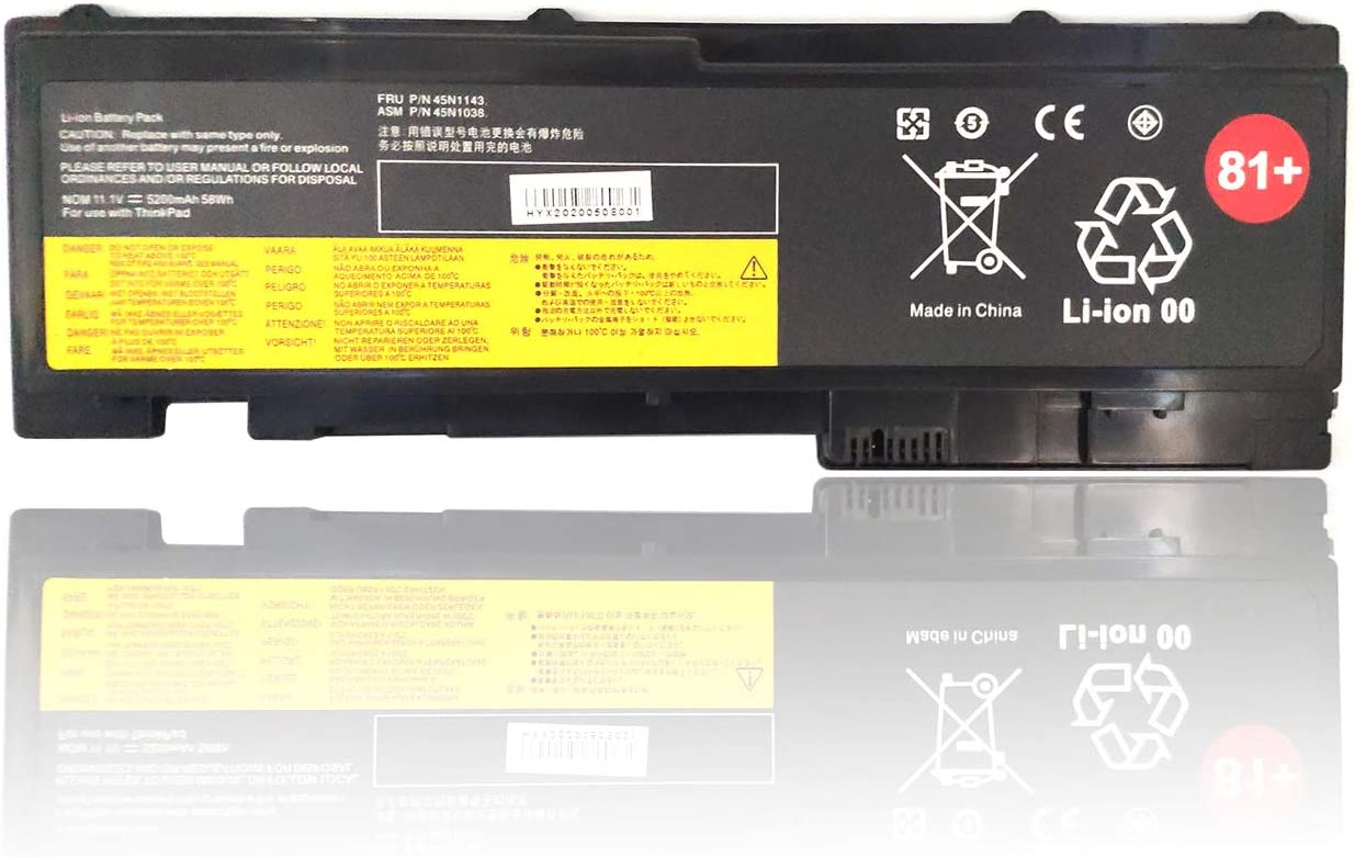 Binger New Replacement Laptop Battery 81+ Compatible With Lenovo ThinkPad T420i T420s T430s 0A36287 42T4844 42T4845 42T4846 42T4847 45N1064 45N1065 45N1143 45N1036 45N1037 45N1038 45N1039 (11.1V 44Wh)