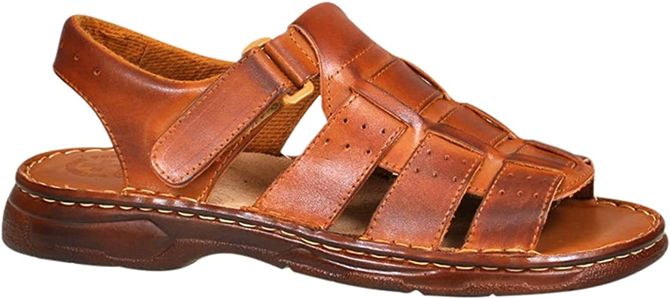 Lukpol Mens Leather Walking Sandals M817