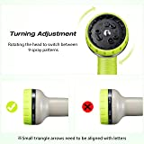 VicTsing Garden Hose Nozzle, Hose Spray Nozzle with 9 Patterns, Heavy-Duty Nozzle for Hose under High Pressure, Metal body and Slip Resistant for Watering,Washing Car,and Showering Pets
