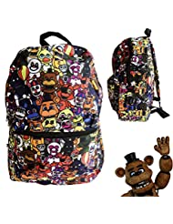 FNAF Five Nights at Freddys School Backpack Luggage Bag with Lanyard