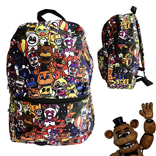 Fnaf Costumes Springtrap (FNAF Five Nights at Freddy's School Backpack Luggage Bag with Lanyard (FNAF World))