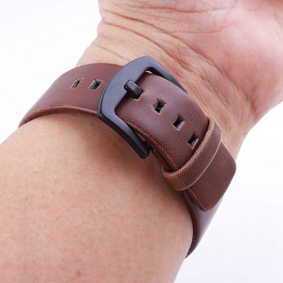 18mm 20mm 22mm 24mm Bracelet Retro Montre en Cuir Bande Femmes Hommes Bracelets Light Brown