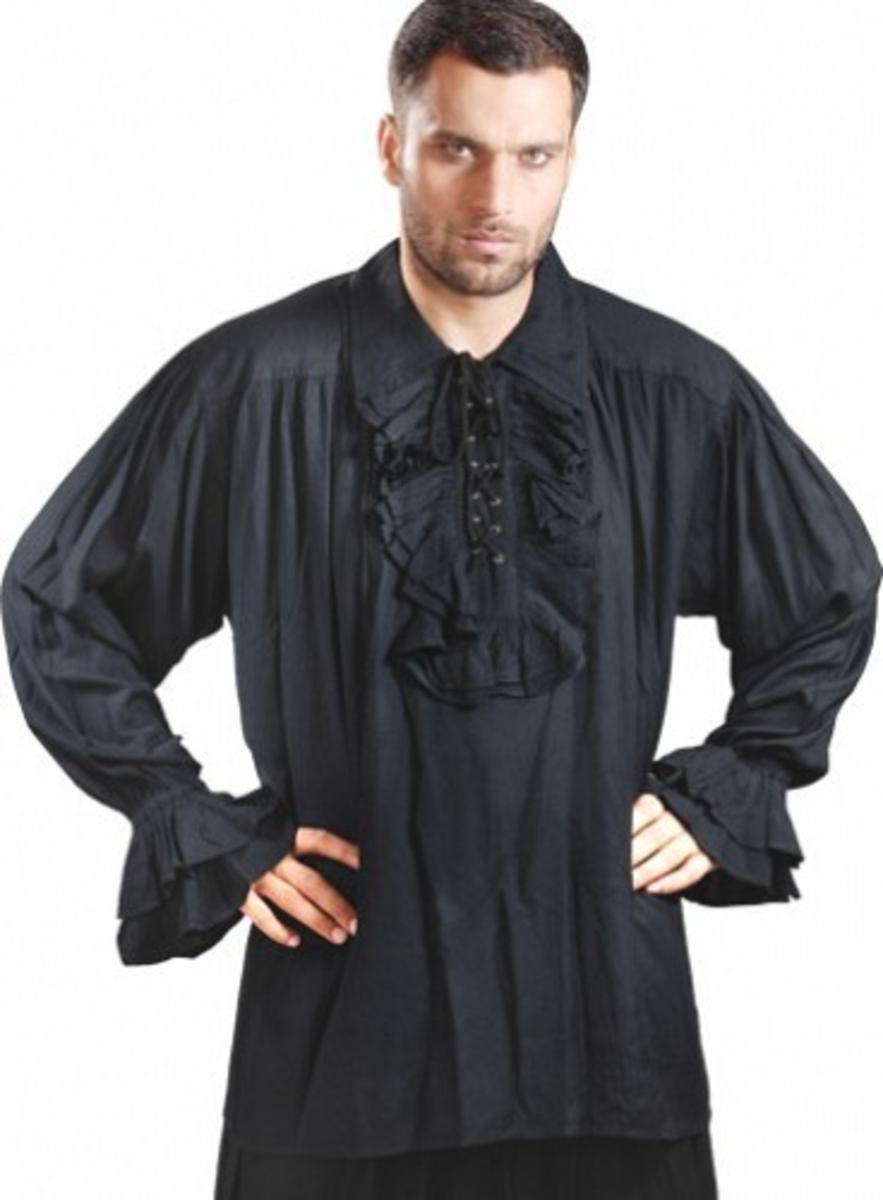 Captain Charles Vane Piraten Shirt - schwarz